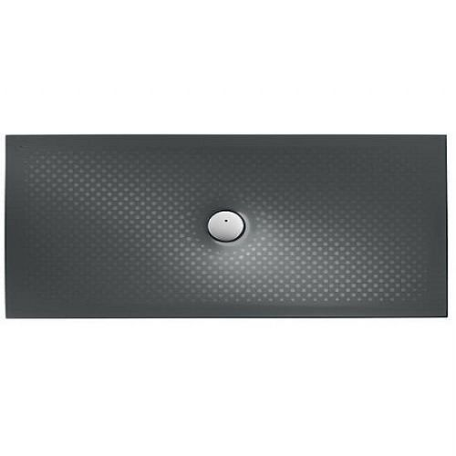 Roca In Floor Anti-Slip Rectangular Shower Tray - 1400mm x 700mm - Matt Black